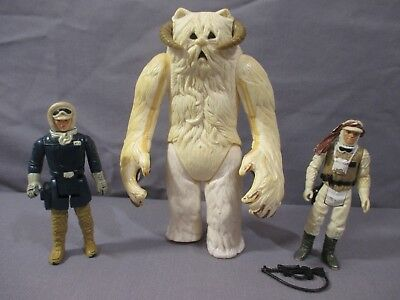 "STAR WARS Vintage ""HOTH WAMPA"" Lot w/ LUKE SKYWALKER & HAN SOLO ESB 1981 Empire"