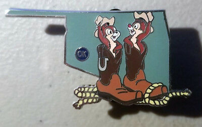 Oklahoma OK Chip & Dale - 2018 American Adventure Map Limited Mystery Disney Pin