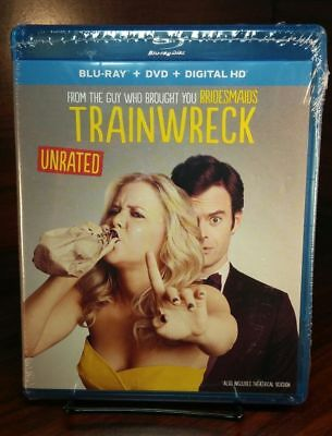 Trainwreck (Blu-ray/DVD+HD Digital Code)Amy Schumer-NEW-Free S&H with Tracking