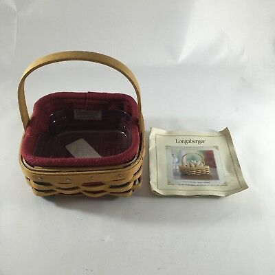 Longaberger 2003 Holiday Helper Basket With Paprika Liner And Protector