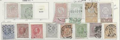 18 Netherlands Stamps from Quality Old Antique Album 1869-1888