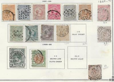 15 Netherlands Stamps from Quality Old Antique Album 1869-1898