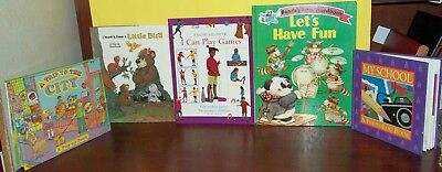 Lot of 5 Books for Young Children~I CAN PLAY GAMES*PANDA*TRIP TO THE CITY+++