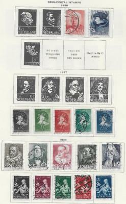 17 Netherlands Semi-Postal Stamps from Quality Old Antique Album 1936-1938