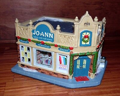 How To Store Christmas Village Houses.Lighted Joann Fabric Craft Store Holiday Inspirations Christmas Village House