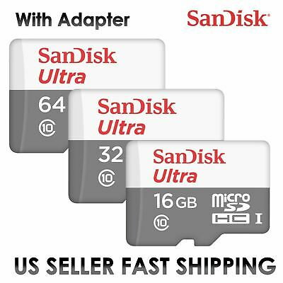 SanDisk Ultra 16GB 32GB 64GB 128GB Micro SD C10 SDHC Flash Memory TF Card