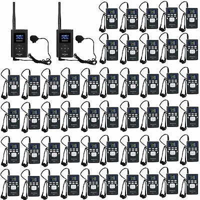 Wireless Tour Guide System for Church/Meeting/Museum 2*Transmitter+50*Receiver