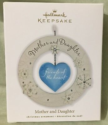 New In Box Hallmark 2010 Christmas Ornament Mother Daughter Friends Of Heart
