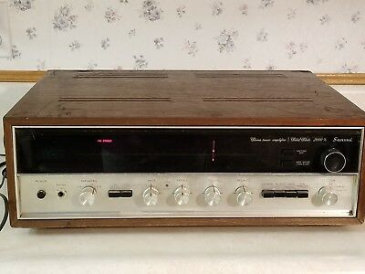 Vintage SANSUI 2000X Solid State AM/FM Stereo Tuner Amplifier - Works!