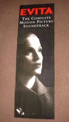 """MADONNA Promo Only """"EVITA"""" Soundtrack Record Store Fabric Hanging Banner (1996)"""