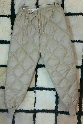 Vintage Eddie Bauer Goose Down Insulated Pants Base Layer Expedition  Mens Sz L