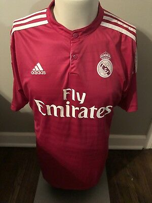 d2546aea2 James Rodriguez  10 Real Madrid 2014 2015 Adidas Pink Soccer Jersey Adult  Size L