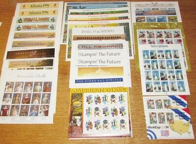 24 Sheets of US Stamps: 32c 33c 34c 37c 41c MNH Face Value $150+