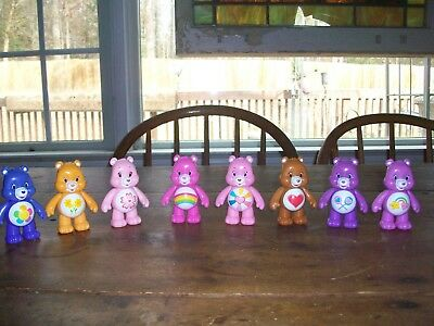 "Tcfc Care Bear 3"" Figures-Movable Arms (8) Lot"