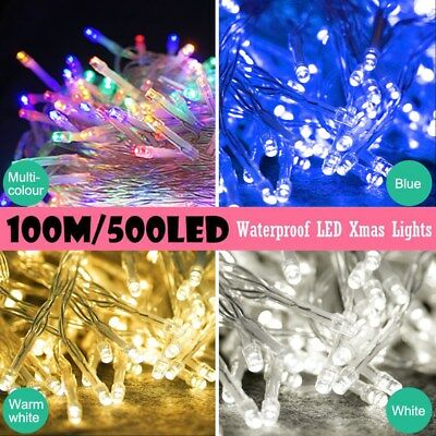 500LED 100M Warm White String Fairy Lights for Christmas Party Wedding Outdoor