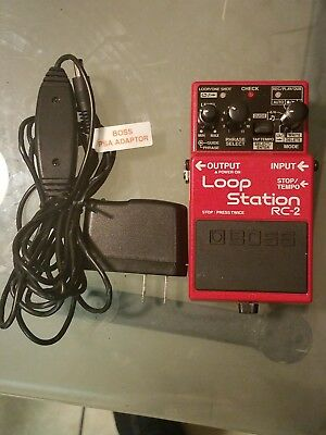 Boss RC-2 Loop Station Guitar Pedal and Boss PSA Adapter