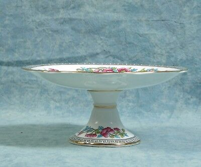 Aynsley Indian Tree Small Cake Stand Compote Hand Painted Vintage