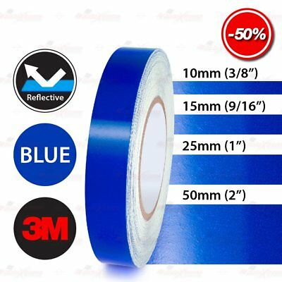 3M BLUE Reflective Conspicuity Auto Trailor PinStripe Vinyl Decal Tape Stickers