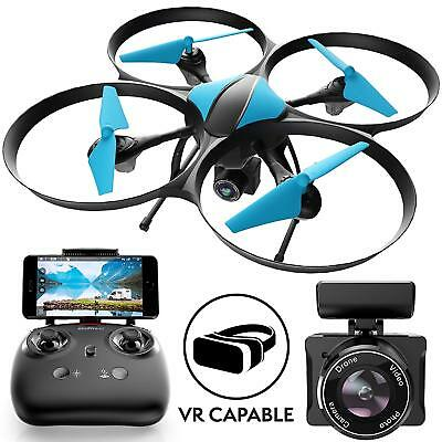 Force1 Drone with Camera Live Video Quadcopter – U49W RC WiFi FPV 720 HD