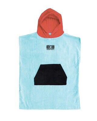 Ocean And Earth Hooded Poncho Towel Toddlers in Ice Blue