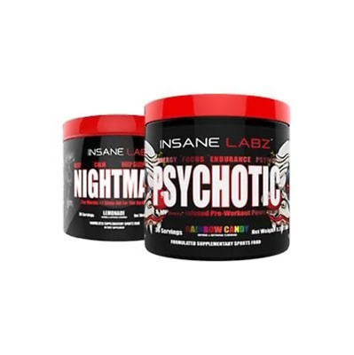 Insane Labz PSYCHOTIC Pre Workout & NIGHTMARE Sleep Aid Stack