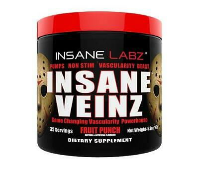 Insane Labz INSANE VEINZ Pre Workout Pumps Caffeine Free 3 Flavours