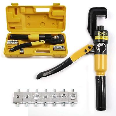 6 Ton Hydraulic Crimper Crimping Tool W/ 8 Dies Wire Battery Cable Lug Terminal