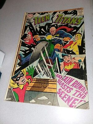 Teen Titans 15 1st appearance Captain Rumble Silver age DC Comics 1968 cardy art