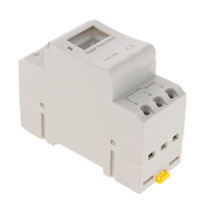 AC220V 16A Digital LCD Power Timer Programmable Time Switch Relay Din Rail