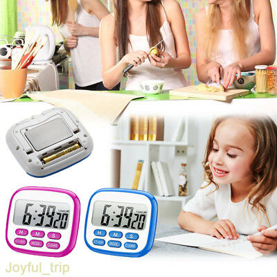 Large LCD Digital With Botton Kitchen Timer Count Down Clock Alarm Stopwatch