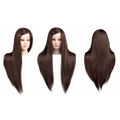 100% Real Human Hair Salon Hairdressing Mannequin Doll Training Head With Clamp