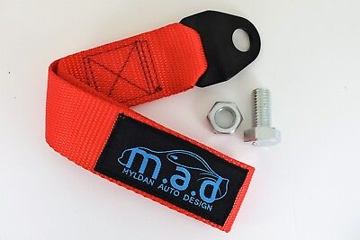 Red M.a.d Door Pull Handle Strap Loop Grab Strap Interior Race Car Rally Track
