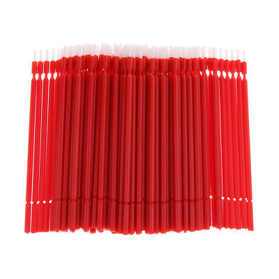 100x Dental Disposable Plastic Tooth Teeth Applicator Brush Sanitary Red
