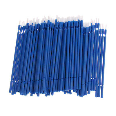 100x Dental Disposable Plastic Tooth Teeth Applicator Brushes, Sanitary Blue