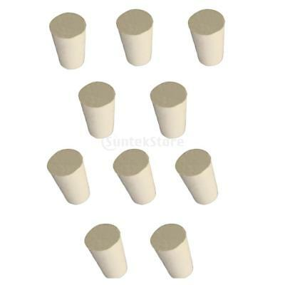Premium Rubber Stoppers - Laboratory Stoppers - Tapered Plugs - 10 Pieces