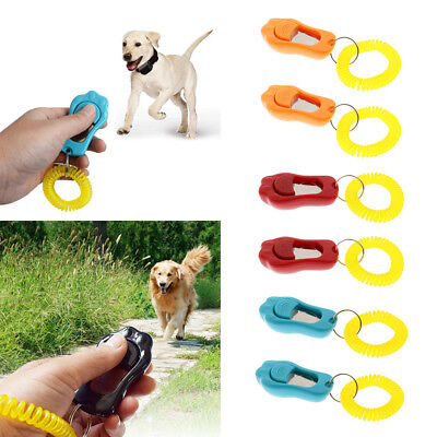 2 Pack Training Clickers with Wrist Strap for Pet Dog Training Obedience