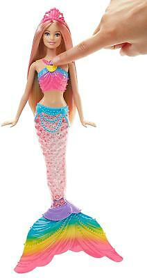 Barbie DHC40 FANTASY Rainbow Lights Mermaid Colourful Light Display, Bath Play,