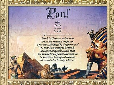 """""""Egypt"""" Name Meaning Print Personalized (Landscape Muslim Africa Geographic)"""