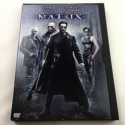 The Matrix DVD Movie Film Keanu Reeves Carrie-Anne Moss Laurence Fishburne 1999