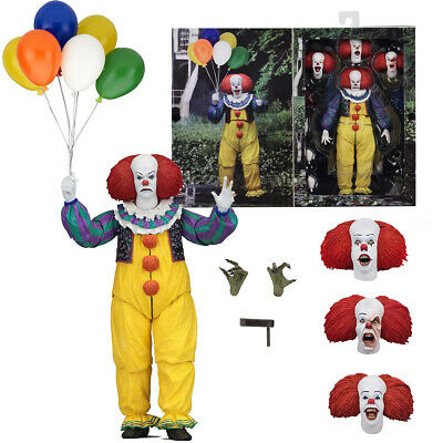 """NECA IT Pennywise Clown 1990 Ultimate 7"""" Action Figure 1:12 Scale 2018 Collector"""