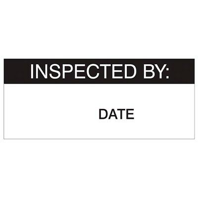 Inspected By Labels, Black On Nylon Cloth 38 x 15mm, Pack Of 140