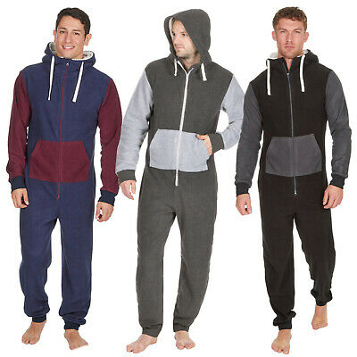 1Onesie Mens Boys Fleece Hooded All in One Pyjamas Onezee Casual Soft Pjs