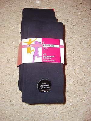 Pack of 3 pairs of girls navy blue tights from Marks and Spencer new age 9-10