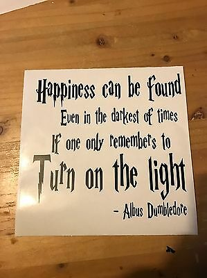 Harry Potter Dumbledore Quote Vinyl Box Frame Decal