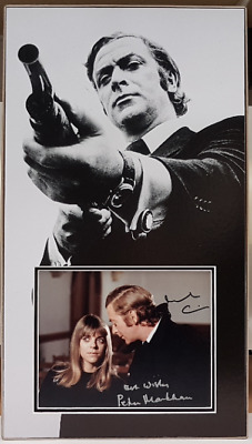 GET CARTER personally DOUBLE signed - MICHAEL CAINE and PETRA MARKHAM