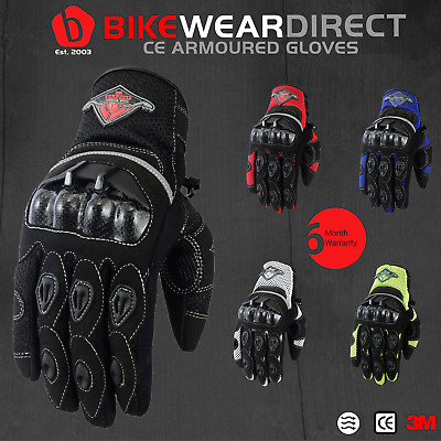 Motorbike Motorcycle Gloves Motocross MX Racing Biker Quad Road Enduro CE Armour