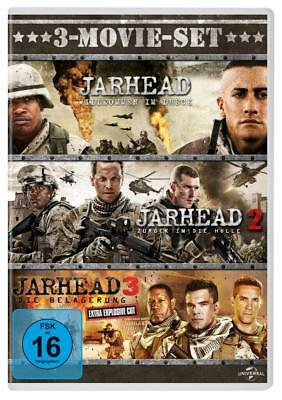 3 DVD-Box * JARHEAD 1 + 2 + 3  JAKE GYLLENHAAL - 3-MOVIE-SET # NEU OVP +