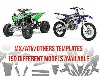 Motocross And Atv Full Body Vector Templates Real Scale