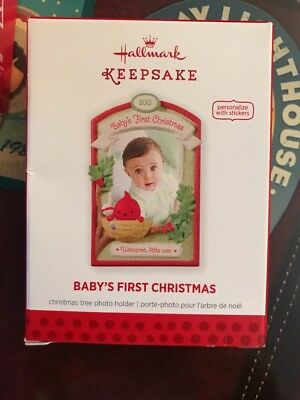 HALLMARK ORNAMENT BABY'S FIRST CHRISTMAS PHOTO HOLDER FRAME to PERSONALIZE 2013
