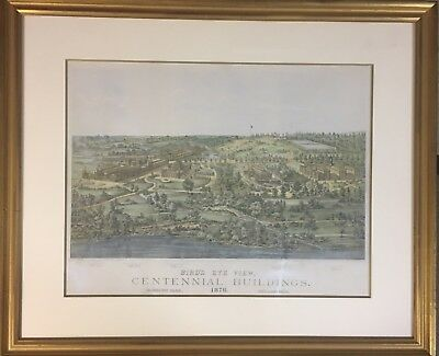 1876 Centennial Exposition Birds Eye View of the Buildings Large Poster